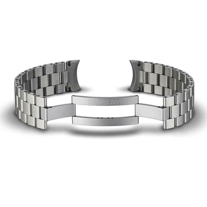 Damasko Ice-Hardened Stainless Steel Bracelet #DS3X-Steel (Curved End, 20mm)