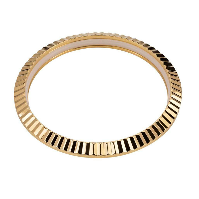Fluted Goldtone Bezel for Seiko SRPE51, 53, 55, 57, 58, 60, 61, 63, 67 #B12-P
