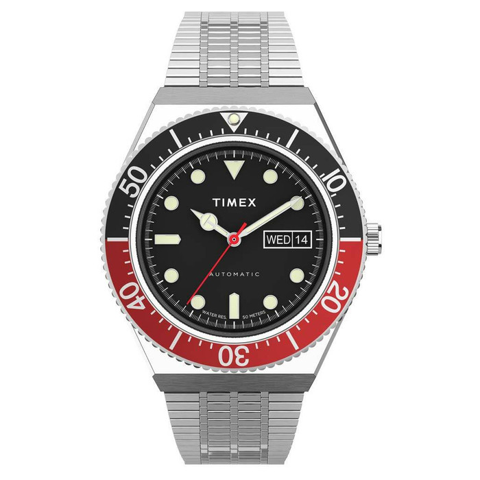 Timex M79 Automatic Watch with 40mm Stainless Steel Case and Matching Bracelet Watch #TW2U83400ZV