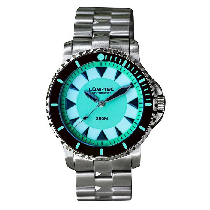 Lum-Tec 43mm Swiss Automatic, Anti-Magnetic 350 meter Dive Watch #350M-4