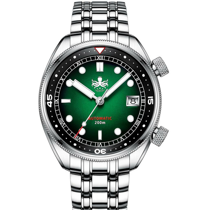 PHOIBOS Eagle Ray 200-Meter Automatic Dive Watch with Double Dome AR Sapphire Crystal #PY029A