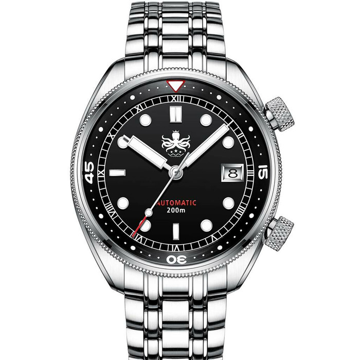 PHOIBOS Eagle Ray 200-Meter Automatic Dive Watch with Double Dome AR Sapphire Crystal #PY029C