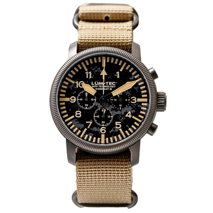Lum-Tec Combat 44 Chronograph Watch with Double Curved Sapphire Crystal #Combat-B44-C