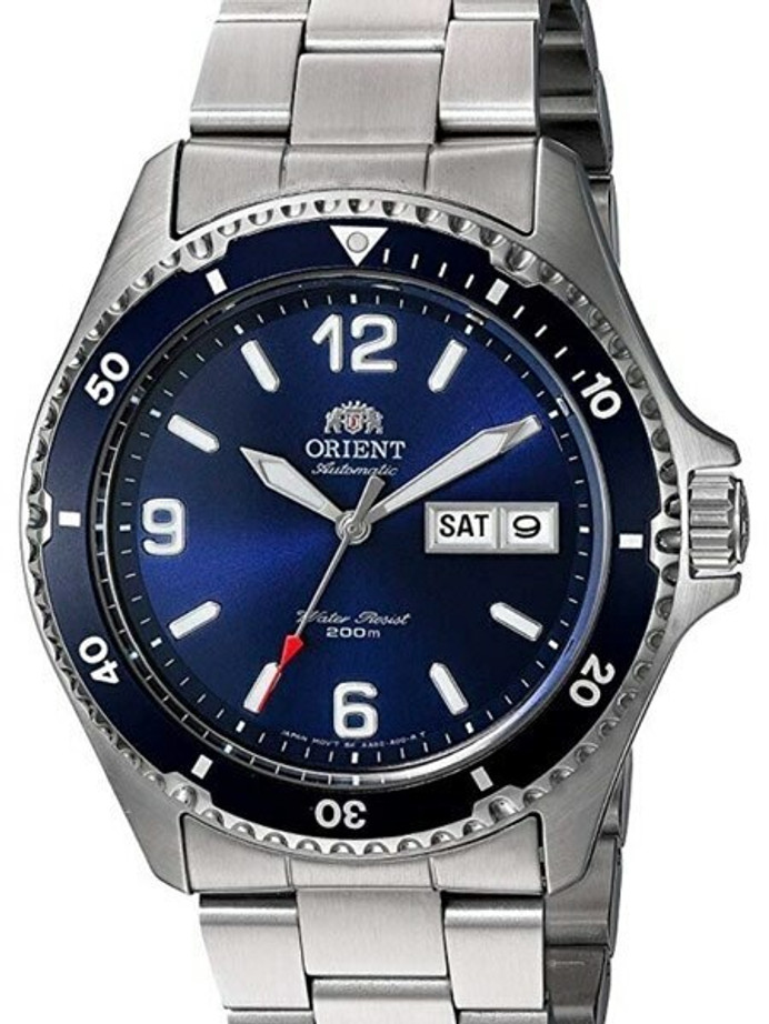 Scratch and Dent - Orient Blue Automatic Dive Watch with Bracelet #AA02002D