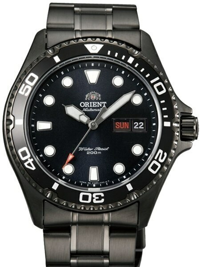 Scratch and Dent - Orient Ray Raven II Black PVD Auto Dive Watch #AA02003B