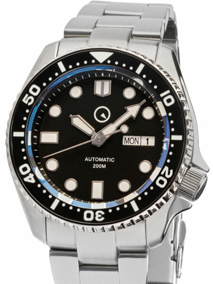Manufacturer Refurbished - Islander Automatic Dive Watch with AR Sapphire Crystal, Luminous Ceramic Bezel Insert #ISL-02