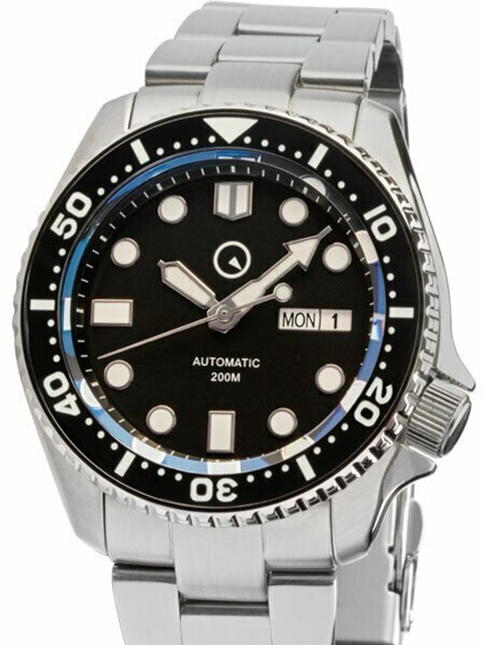 Manufacturer Refurbished - Islander Automatic Dive Watch with Bracelet, AR Sapphire Crystal, Luminous Bezel Insert #ISL-02