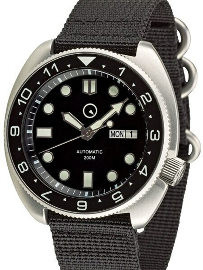 Islander Automatic Dive Watch with AR Double Dome Sapphire Crystal, and Luminous Dual-Time Bezel Insert #ISL-11