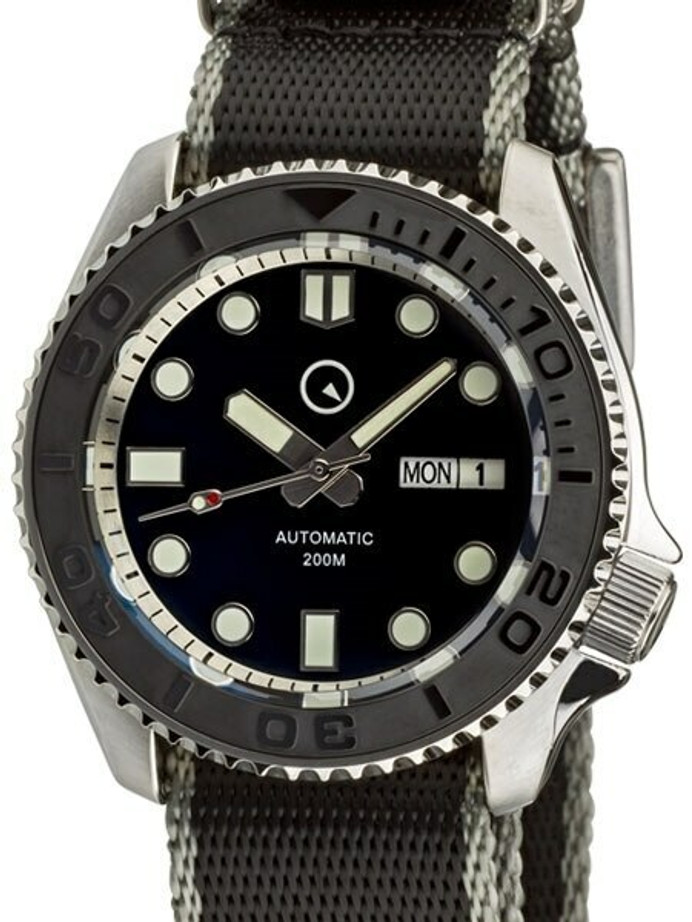 Manufacturer Refurbished - Islander Automatic Dive Watch with Seat-Belt Strap, Sapphire Crystal, and Ceramic Bezel Insert #ISL-04