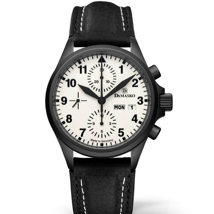 Damasko Swiss Valjoux 7750 Chronograph with a 60-Minute Stopwatch and 12-Hour Totalizer #DC57BK