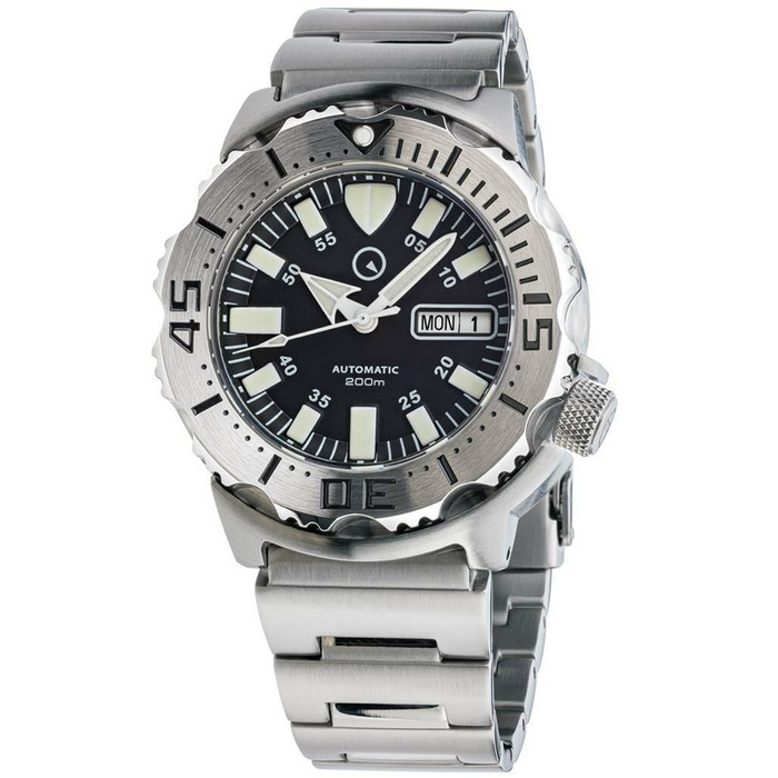 Islander Black Dial Automatic Dive Watch with AR Double Dome Sapphire Crystal, and 120-click Bezel #ISL-57