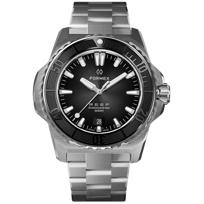 Formex REEF Swiss Automatic Chronometer Dive Watch with Sunburst Black Dial #2200-1-6322-100