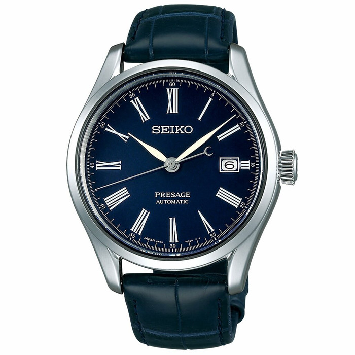 Seiko Presage Automatic Dress Watch with Blue Enamel Dial, AR Sapphire Crystal  #SARX053