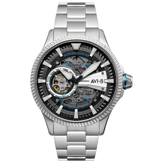 AVI-8 Hawkeye Hunter Blue Diamonds, Automatic Pilot Watch, AR Sapphire Crystal #AV-4078-11