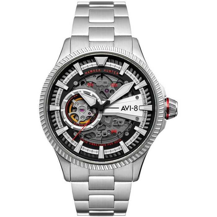 AVI-8 Hawkeye Hunter Diables Rouges, Automatic Pilot Watch, AR Sapphire Crystal #AV-4078-22