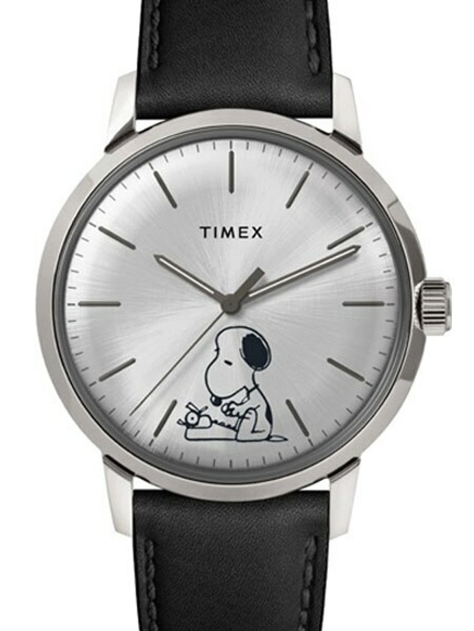 Scratch and Dent - Timex 40mm Marlin 21-Jewel Automatic Watch with Silver Snoopy Dial #TW2U71200ZV