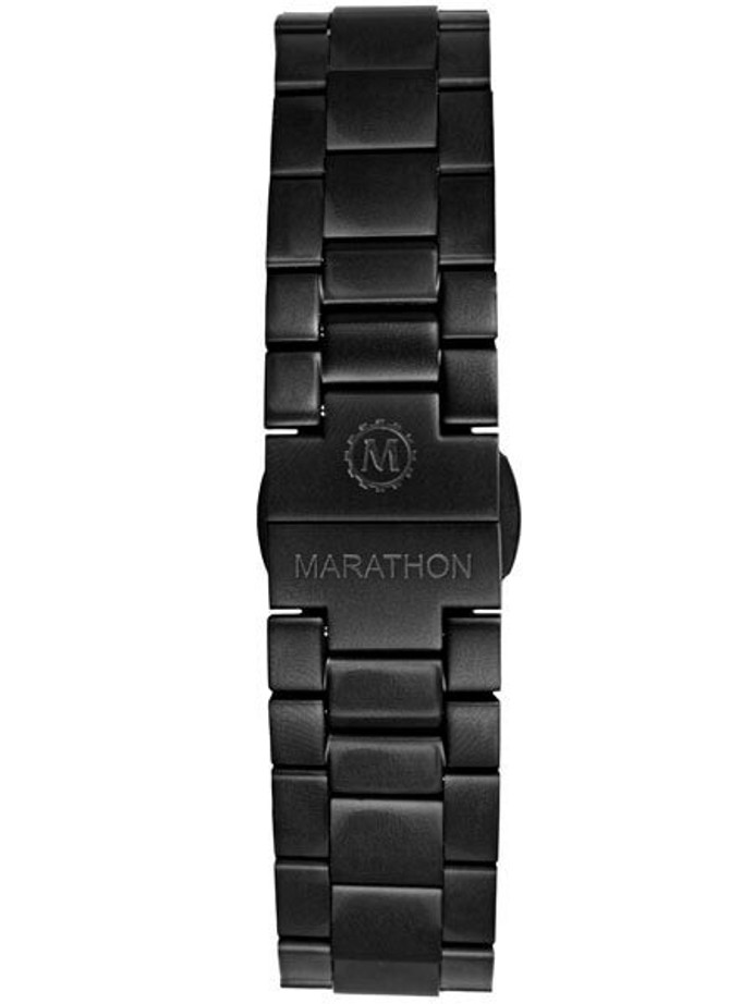 Marathon Black PVD Solid Link Watch Bracelet #WW005005BK-MA (20mm)
