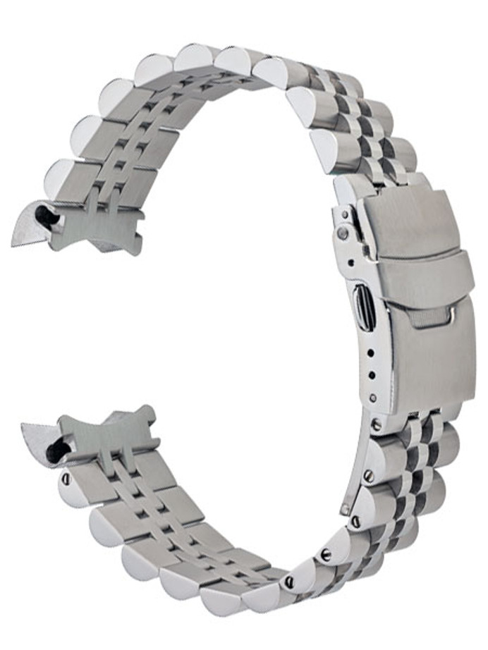 Islander 22mm Brushed Solid-Link Watch Bracelet for Orient Mako 2 and Ray 2 #BRAC-13