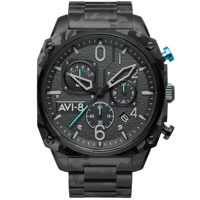 AVI-8 Hawkeye Hunter Night Camo, Retrograde Chronograph, AR Crystal #AV-4052-11
