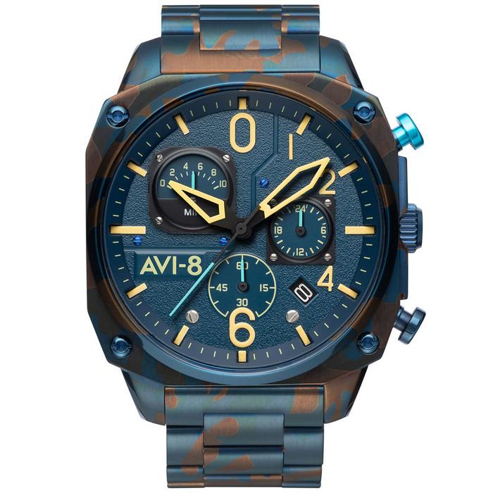 AVI-8 Hawkeye Hunter Air Camo, Retrograde Chronograph, AR Crystal #AV-4052-33