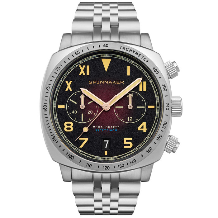 Spinnaker Hull Oxblood California Dial Chronograph with 42mm Case #SP-5092-22