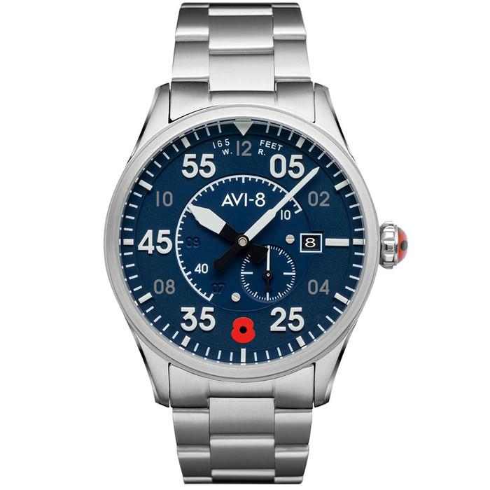 AVI-8 Spitfire Royal British Legion Limited Edition, 21-Jewel Automatic Pilot Watch, AR Sapphire Crystal #AV-4073-RBL