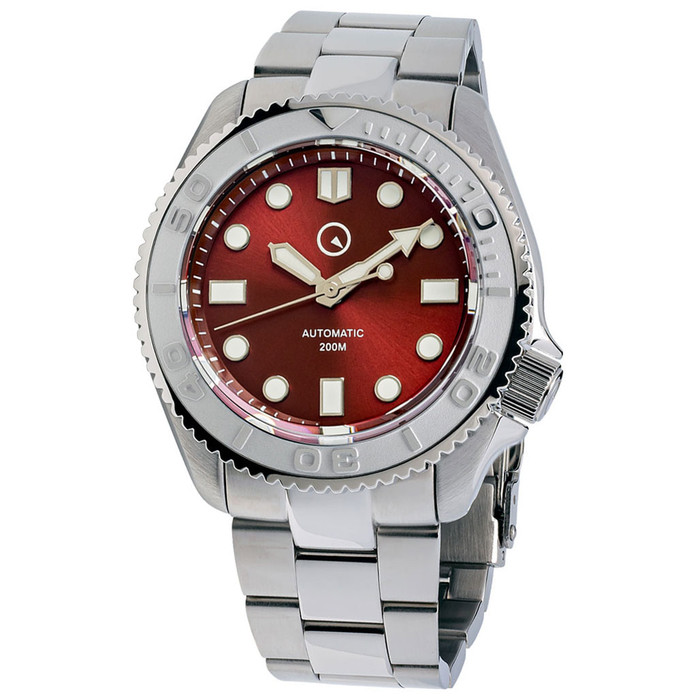 Islander Automatic Dive Watch with Bracelet, Double-Domed AR Sapphire Crystal, and Embossed Ceramic Bezel Insert #ISL-92