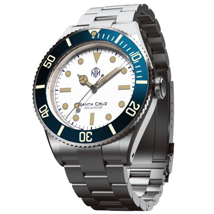 NTH Santa Cruz 300-Meter Hi-Beat Automatic Dive Watch with an AR Sapphire Crystal #WW-NTH-SCWN