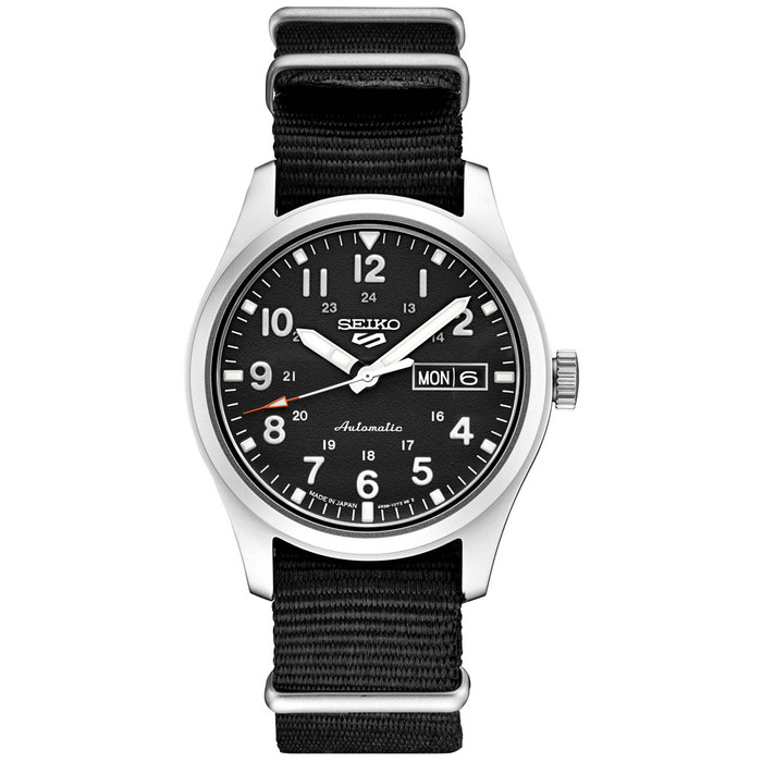 Seiko 5 Sports 24-Jewel Automatic Watch with Black Dial  #SRPG37