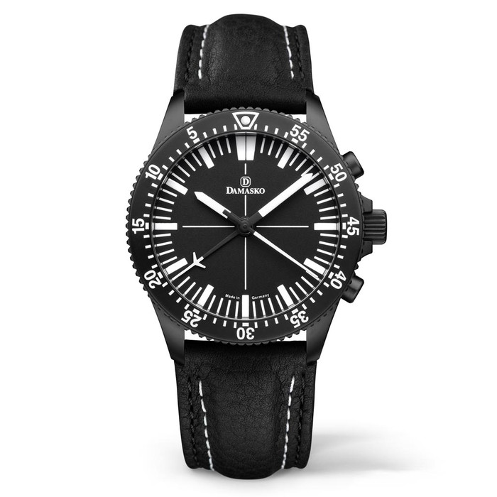 Damasko Black 42mm Chronograph with a Unique 60-Minute Stopwatch Function #DC80