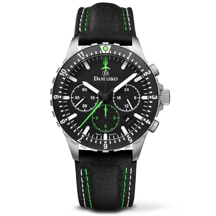 Damasko 42mm Chronograph with a Stopwatch, and 12-hour Totalizer #DC86