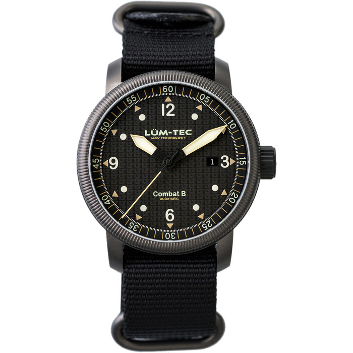 Lum-Tec 43mm Combat Automatic Watch with Curved Sapphire Crystal #Combat-B51