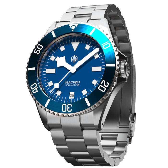 Näcken 300-Meter Hi-Beat Automatic Dive Watch with an AR Sapphire Crystal #WW-NTH-NMED