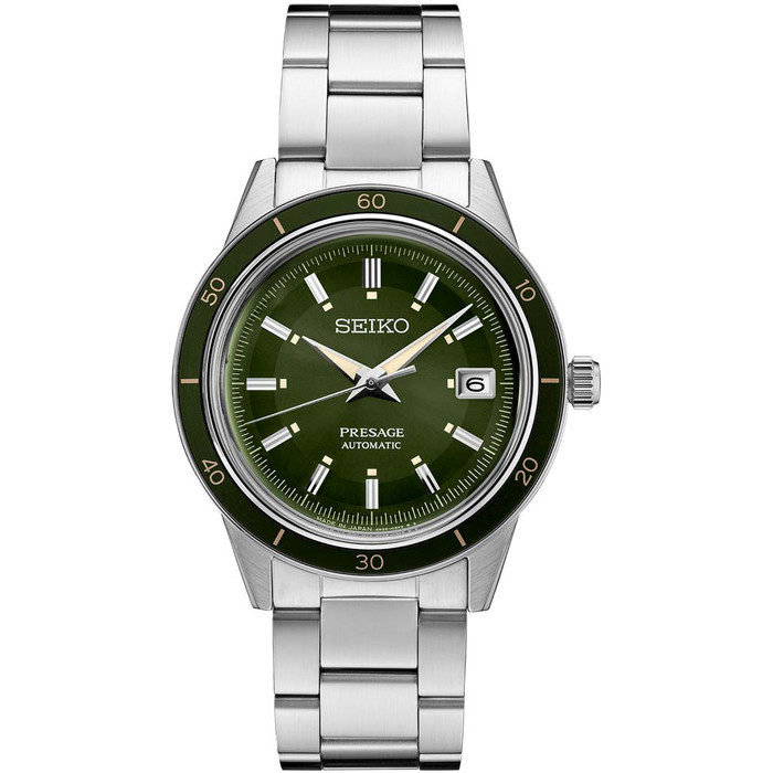 Seiko Presage Automatic Sporty Dress Watch with 41mm Case, and Hardlex Box Crystal #SRPG07
