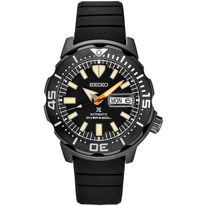 Seiko Limited Edition Black Ion Monster Automatic with Rubber Dive Strap #SRPH13