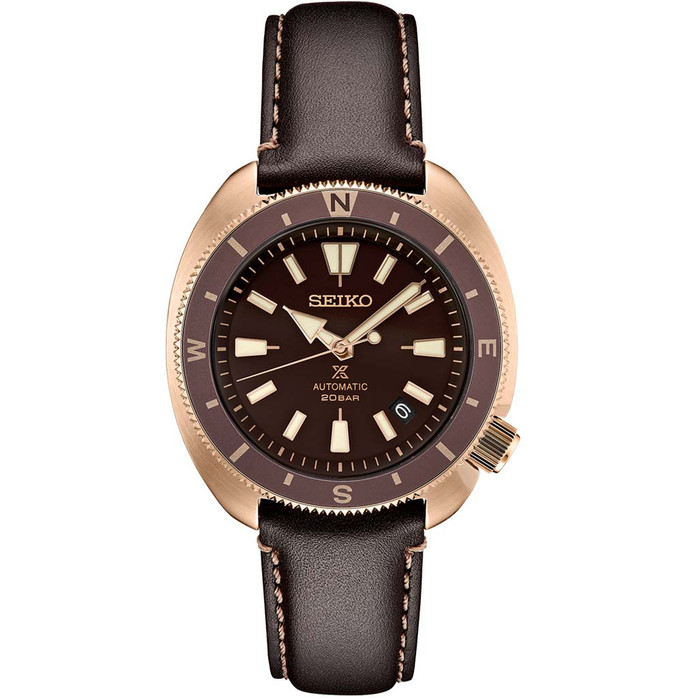 Seiko Prospex Automatic Dive Watch with Brown Dial and Rose Goldtone Case #SRPG18