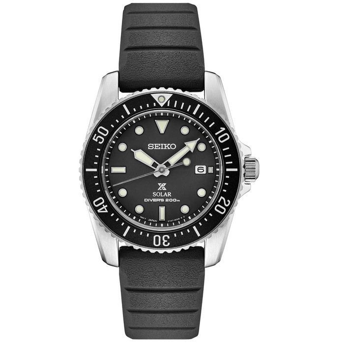 Seiko 38mm Prospex Solar Powered Dive Watch with 10-Month Power Reserve #SNE573