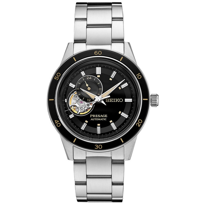 Seiko Presage Automatic Open-Heart Watch with 24-Hr Sub-Dial and 40mm Case  #SSA425