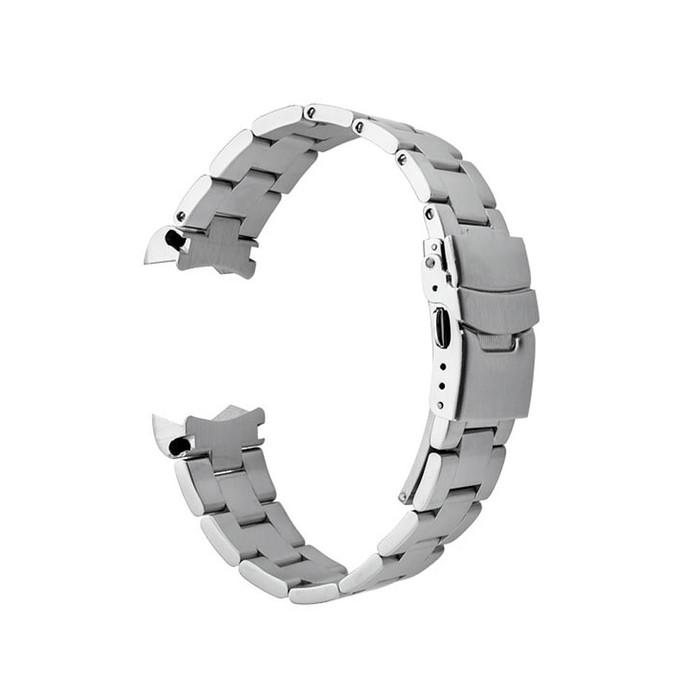 Islander 20mm Brushed Solid-Link Watch Bracelet for Islander ISL-36,37, 38, 39 Watches, Curved End #BRAC-14