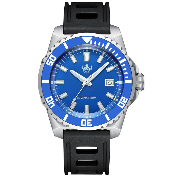 PHOIBOS Leviathan 500-Meter Automatic Dive Watch with Stainless Steel Case, AR Sapphire Crystal #PY032B
