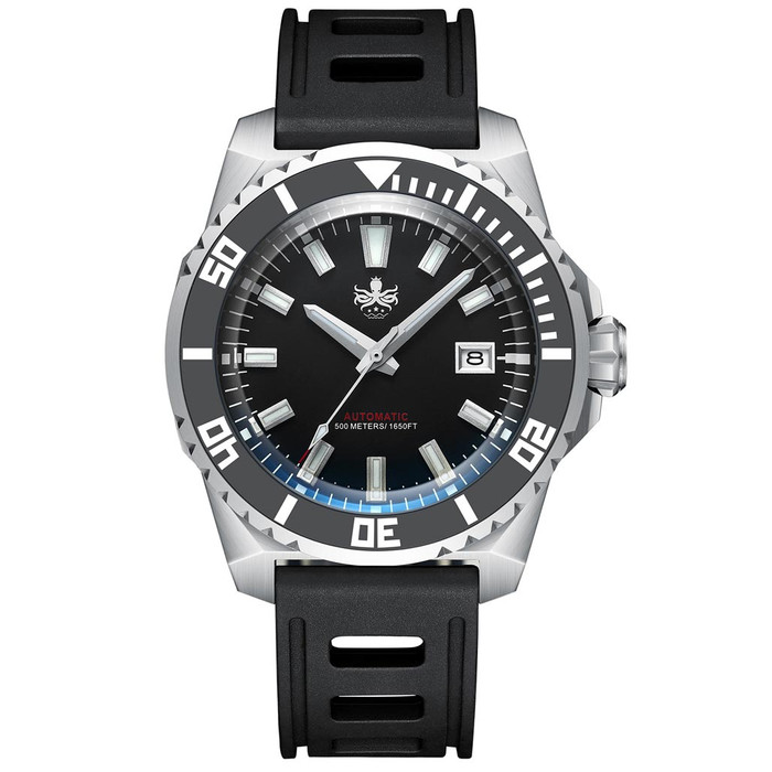 PHOIBOS Leviathan 500-Meter Automatic Dive Watch with Stainless Steel Case, AR Sapphire Crystal #PY032C