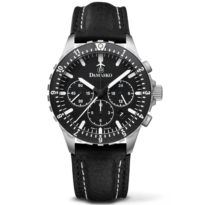 Damasko 42mm Chronograph with Stopwatch, and 12-hour Totalizer #DC86