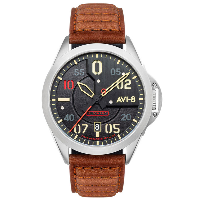 AVI-8 P-51 Mustang Hitchcock, Automatic Pilot Watch with AR Sapphire Crystal #AV-4086-01