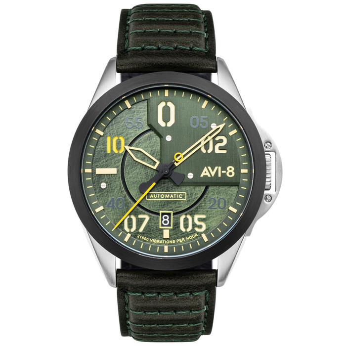 AVI-8 P-51 Mustang Hitchcock, Automatic Pilot Watch with AR Sapphire Crystal #AV-4086-03