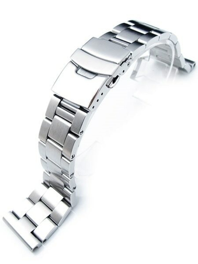 """Strapcode 20mm Super-O """"Boyer"""" watch band with Straight Ends #SS202003B023"""