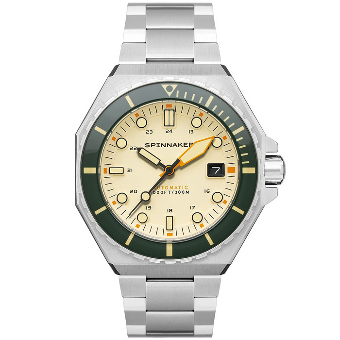 Spinnaker Dumas Automatic 300 Meter Dive Watch with Stainless Steel Bracelet #SP-5081-CC