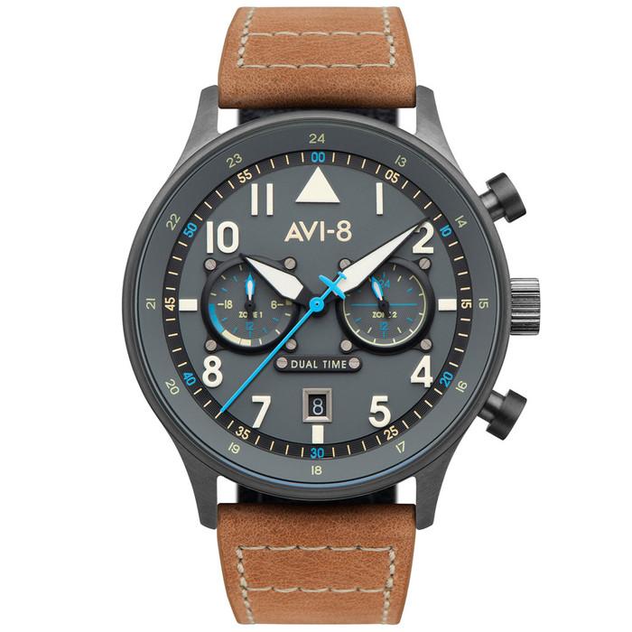 AVI-8 Carey Hawker Hurricane Dual-Tiime Pilot Watch #AV-4088-04