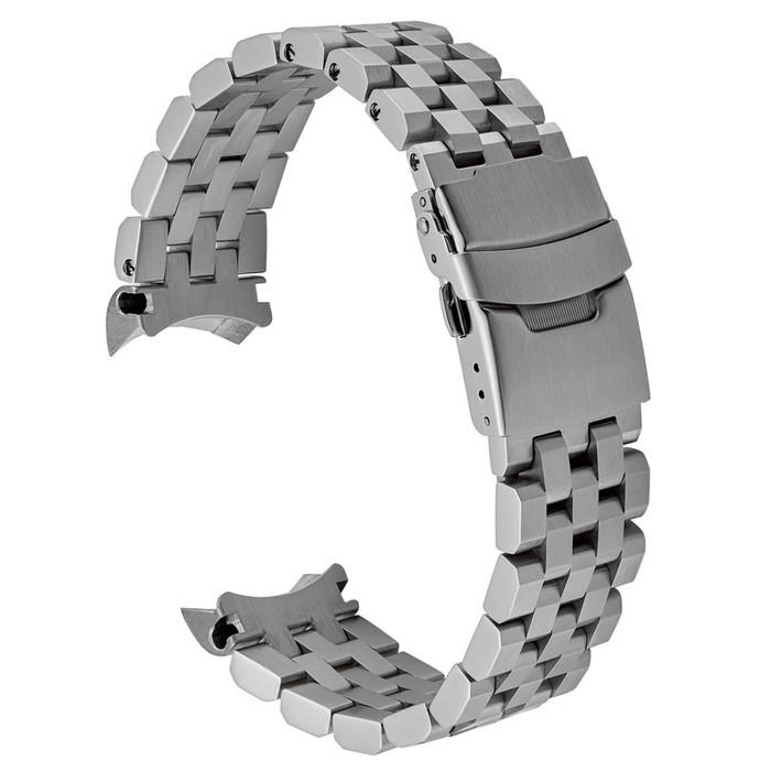 Islander 22mm Brushed Angular Solid-Link Watch Bracelet for SKX007 and Islander 43mm Dive Watches Curved End #BRAC-15