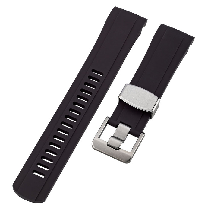 Islander 22mm Black Rubber Dive Strap for Orient Ray 2 and Mako 2 Divers #BRAC-20