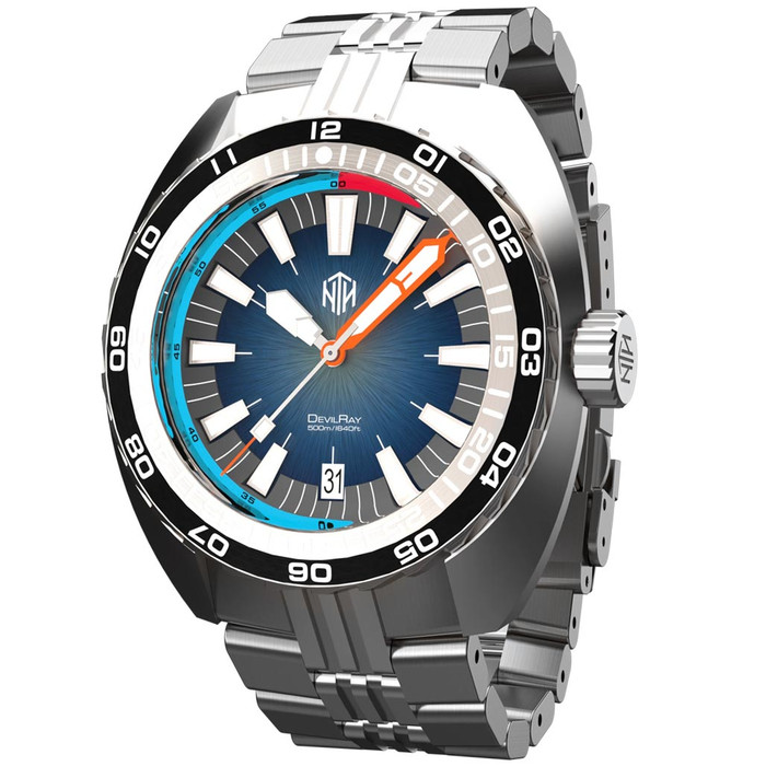 NTH DevilRay 500-Meter Automatic Dive Watch with an AR Sapphire Crystal #WW-NTH-DRED